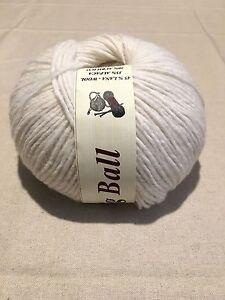 Filati ferri maglia gomitoli 80/% lana Panna