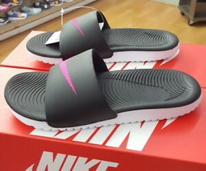 c2d6aedfb9cd NIKE WOMEN S KAWA SLIDE 834588 060 BLACK VIVID PINK WOMEN US SZ 10 ...