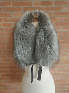 collo PELLICCIA di VOLPE argentata argent FOURRURE de RENARD argenté silver FOX
