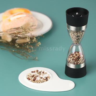 2 in 1 Manuelle Pfeffermühle Peppercorn Salzmühle mit einstellbarer R0M0