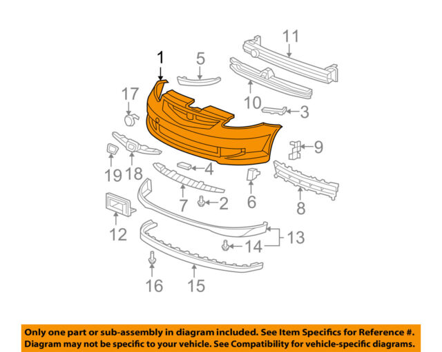 Partslink Number HO1000249 OE Replacement Honda Fit Front Bumper Cover