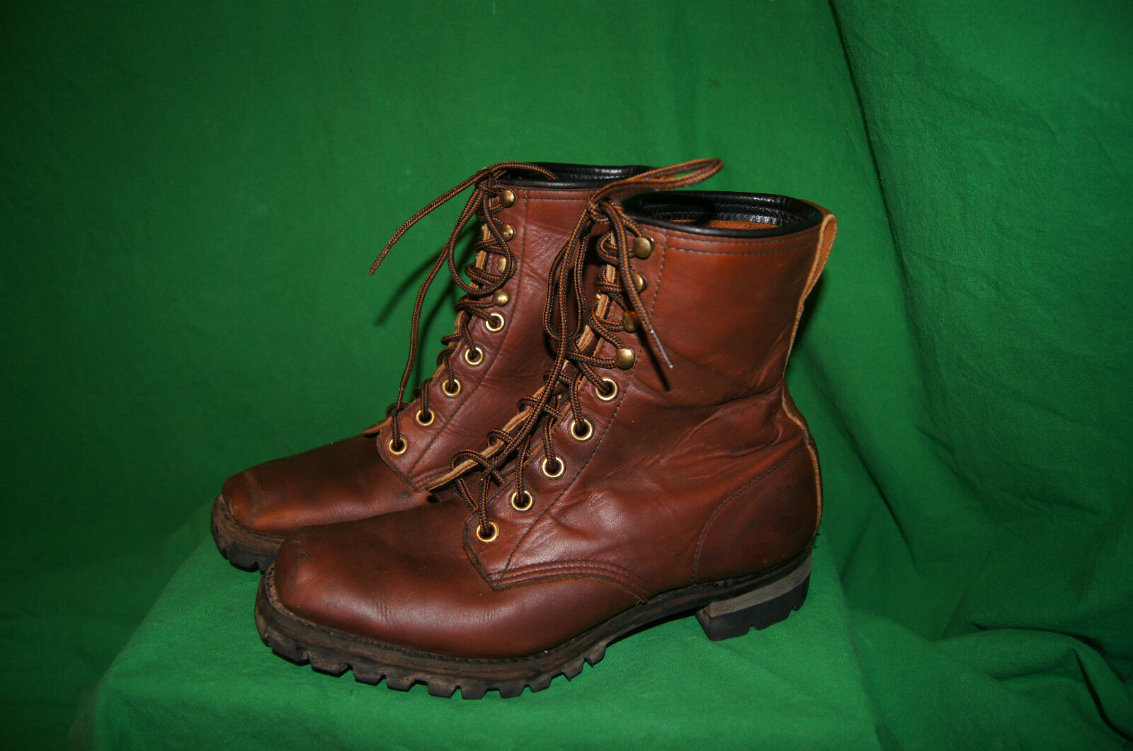 Vintage BOOTS 10 Pelle Motorcycle BOOTS 10 SQUARE TOE BOOTS 10 VINTAGE HUNTING