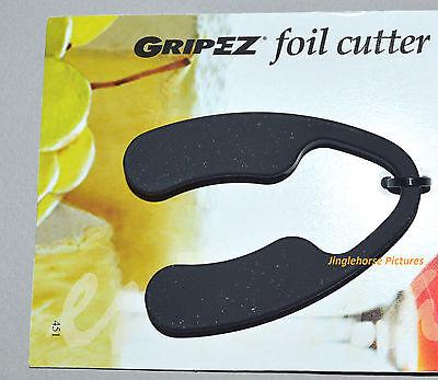 Easy Grip Wine Bottle Foil Cutter GRIP-EZ Black Plastic with nonslip Coating NEW