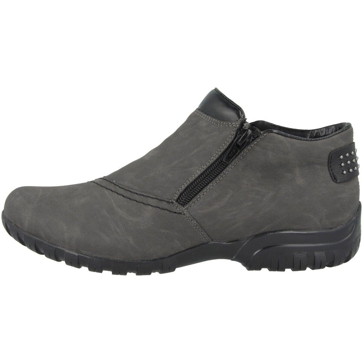 Rieker New York-Fino Schuhe Grau Antistress Damen Stiefelette Stiefel Grau Schuhe L4662-45 389e0e