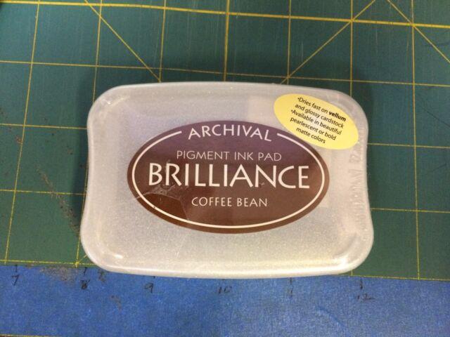BRILLIANCE PIGMENT INK PAD- COFFEE BEAN