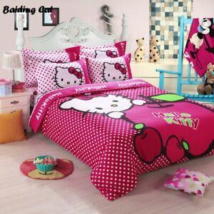 ff4f6796b Hello Kitty Bedding Set Duvet Cover Flat Sheet Pillowcase for Kids ...