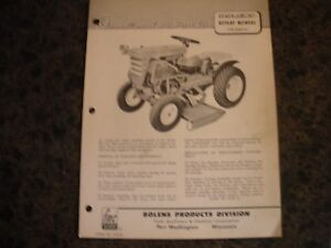 Bolens rotary mower 22443-01 ,owners manual with parts list