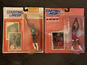 Starting Lineup LOT! Spurs David Robinson 1990 & Clippers Loy Vaught 1997 🏀