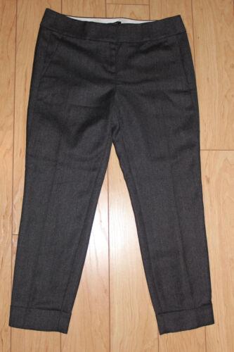 Ann Taylor LOFT Flat Wool Cuffed Pencil Pants Size 00P,0P,2P,4P,8P,10P Coal Grey