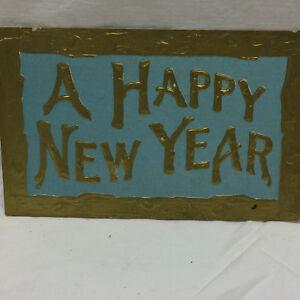 Vintage-Embossed-Postcard-A-Happy-New-Year-Greeting-1911