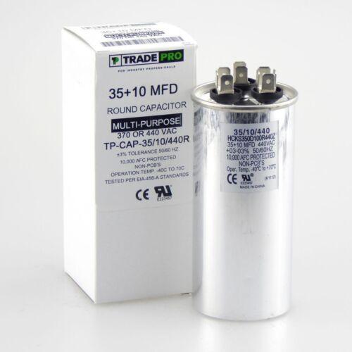 TRADE PRO NIB TP-CAP-35//10//440R 35+10 MFD Capacitor UNIVERSAL USE