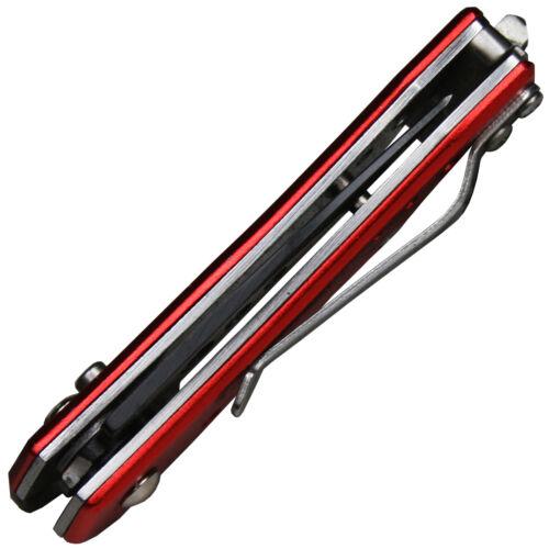 Haller Rescue Mini-Springmesser mit Sicherung Leichtmetallschalen in rot