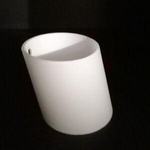 Dettagli su Vetro Lampada Paralume Vetro di Ricambio Cilindro Vetro Bianco  Zum Vite 2 Fori