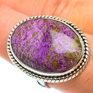 Large-Stichtite-925-Sterling-Silver-Ring-Size-8-75-Ana-Co-Jewelry-R42967F