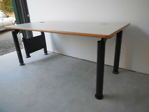 Bomann Klassischer Buro Pc Tisch Weiss Ahorn Kabelkanal