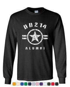 DD214-Alumni-Long-Sleeve-T-Shirt-Military-Service-Veteran-American-Patriot-Tee