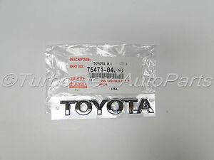 Image is loading Toyota-Tacoma-2005-2015-TOYOTA-Tailgate-Emblem-Genuine-