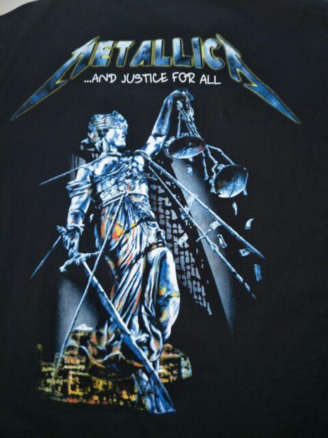 d65a6042 Rare VTG Metallica And Justice for All Black L/S Metal Snap Shirt Men's XL