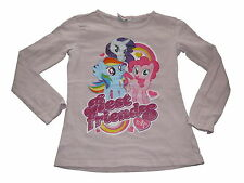 Tolles Langarm Shirt Gr. 128 rosa mit My little Pony Motiv !!