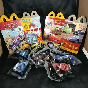 Lot of 7 NOS McDonald's Happy Meal PIXAR CARS Toys w/ 2 Boxes