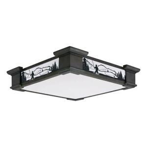 the latest 9a000 4ca4e Details about Lithonia Lighting Sierra 1-Light White Fluorescent Ceiling  Flush Mount