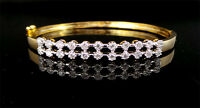Simulated Cubic Zirconia DAJ Designer White Antique Band Bracelet 917 2B 39