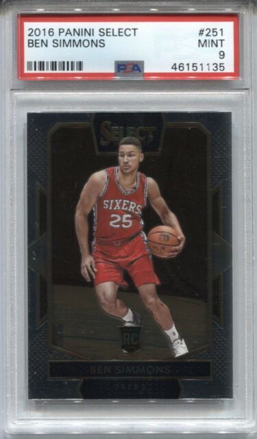 2016-17 Ben Simmons Panini Select COURTSIDE ROOKIE CARD Rc #251 76ers PSA 9 MINT