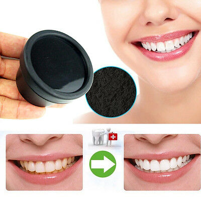 Natural Activated Organic Charcoal Teeth Whitening Powder Stain Remover Yellow
