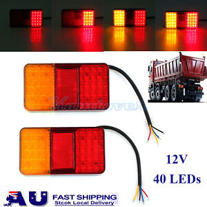 Truck Parts Partol 2pcs 19 Leds Car Led Rear Tail Lights Stop Brake Running Light Side Marker For Truck Trailer Vehicles 12v 24v Red Yellow Automobiles & Motorcycles