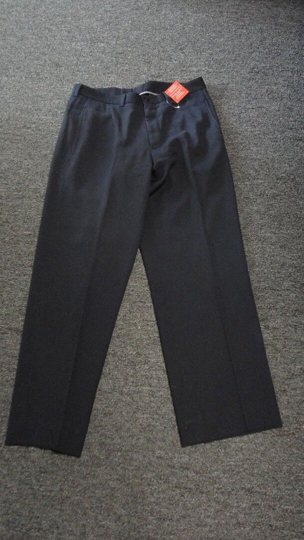 ARMANI COLLEZIONI Navy bluee Polyester Blend Striped Dress Pants Sz 48 32 FF0987