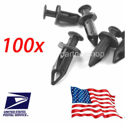 100 Fender Clip 8mm Fits For Honda Trx450 Trx400 Trx350 Trx300 250Ex 300Ex 400Ex