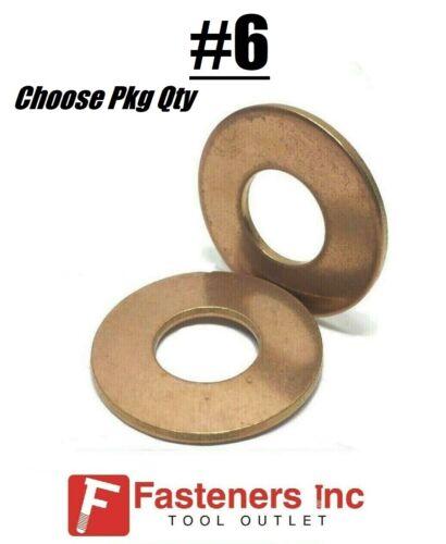 #6 Marine Flat Washers Silicon Bronze Standard Round Washers .312OD