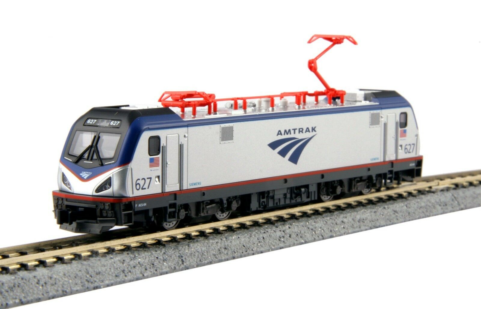 Escala N-Kato 137-3002 Amtrak Locomotora ACS-64   627 Dcc Listo