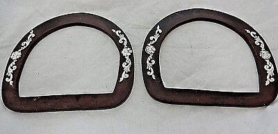 "Dakota Bubble Buckle Set Hansen Western 3//4/"" Br Iron Silver Overlay Horse Tack"