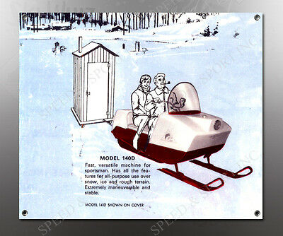 VINTAGE ARCTIC CAT 1974 LINEUP SNOWMOBILE BANNER