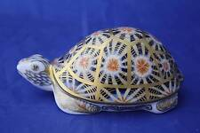 ROYAL CROWN DERBY INDIAN STAR TORTOISE PAPERWEIGHT MMV - BOXED