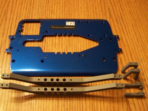 4910 2.5 Traxxas T-Maxx Blue Aluminum Chassis Plate 5122r w Braces Servo Mounts