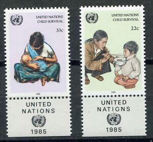 S9762) United Nations(Ny) MNH 1985, Children Survival 2v