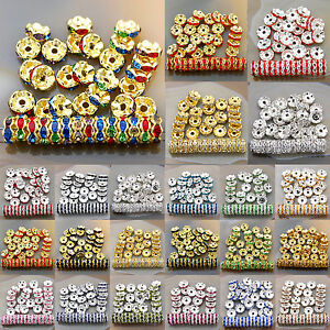 100PCS-Czech-Crystal-Rhinestone-Wavy-Rondelle-Spacer-Beads-4mm-6mm-8mm-10mm-12mm