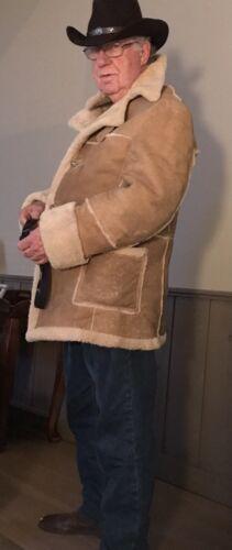 Marlboro Man sheepskin coat