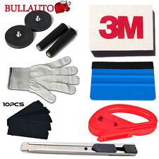 Vehicle Car Wrapping Application Tools Kit - 3M Squeegee Razor Magnets Gloves