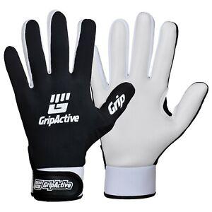 Grip Active Gaelic Gloves with Premium Qaulity Latex GAA Football WHITE and BLACK-Latex Men
