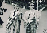 SPANDAU BALLET LIVE AID PHOTO 1985 UNIQUE IMAGE UNRELEASED HUGE 12 INCH B &WHITE