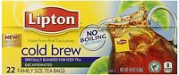 Lipton Decaffeinated Cold Brew, Family Size Tea Bags, 22 Count (pack Of 3) ,
