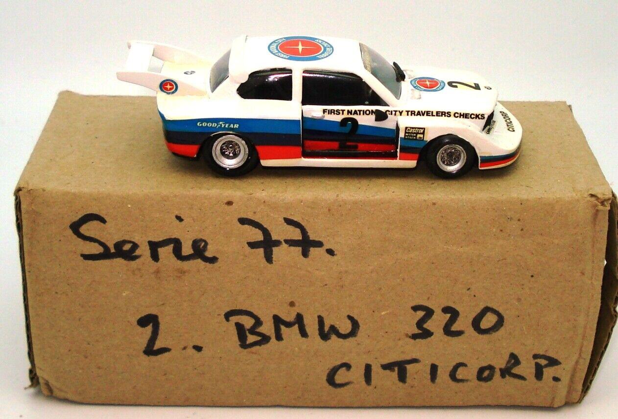 1 43 GRAND PRIX MODELS BMW 320 DAYTONA 1977 - Weiß METAL -MINT BOXED L2