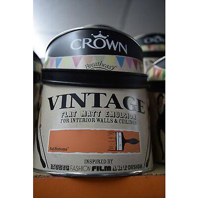 Crown Vintage Flat Matt Emulsion Paint For Interior Walls Ceilings Orange Bell