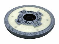 Homebrite Solar Led Round Stepping Stones, Oyster Grey Set Of 3 Outdoor Light