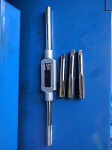 TEC ESC P/&N TS SUTTON 3X HSS Hand Tap set M5 x 0.8 RH Taper inter Bottom plug