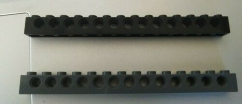 Lego 32018 Technic  Brick 1 x 14 with hole grey//white//black x 1