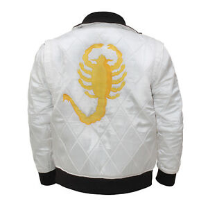 71339ca77 Details about Drive Embroidered Scorpion Ryan Gosling Bomber Satin Movie  Jacket Costume